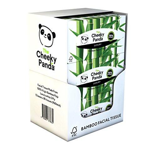 The Cheeky Panda FTF-0700461678632 cosmeticadoeken, 100% kunststof, bamboe, plat, 12 stuks