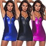 HITRAS Clearance!Womens Sexy Underwear!Women Artificial Leather Underwear-Bodysuit Mini Dress Zipper Lingerie