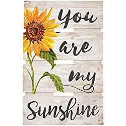 You Are My Sunshine Sunflower Whitewash 10 x 15.5 Wood Skid Pallet Wall Plaque Sign