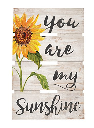Picture Sunflower (P. GRAHAM DUNN You are My Sunshine Sunflower Whitewash 10 x 15.5 Wood Skid Pallet Wall Plaque Sign)