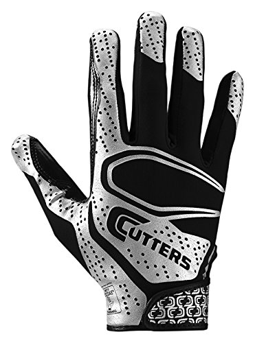 Cutters Rev 2.0 Receiver Gloves, Pair, Youth ,X-SMALL ,BLACK