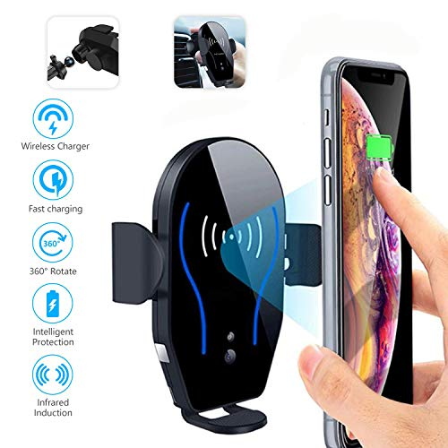 GRAVMATIC Car Phone Mount with Automatic Clamping Cell Phone Holder, Motor, and Air Vent Clipping Capability   Wireless Charging with 360-Degree Rotating Movement   Compatible with iPhone Xs Max/XR/XS