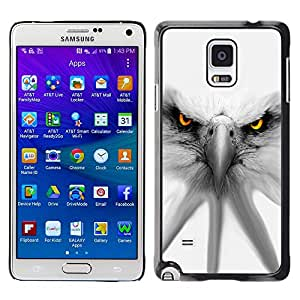 Paccase / SLIM PC / Aliminium Casa Carcasa Funda Case Cover para - Eagle White Patriotism America Symbol - Samsung Galaxy Note 4 SM-N910F SM-N910K SM-N910C SM-N910W8 SM-N910U SM-N910