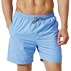 a36d7c97d5 ChinFun Men's Quick Dry Swim Trunks with Mesh Lining Male Bathing Suit  Beach Shorts