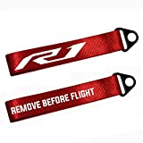 Red Metal Key Chain Tag with Stamp Logo Nylon Rope for Yamaha YZF R1 M S
