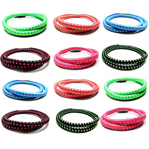 Frogsac Bungee Cord Assorted Stretch Bracelets for Women, Girls, Kids, Teens, Tween | Value Pack | Great Party favors for Girls | Teen Accessories Fashion Jewelry (12 pcs - Wrap (Extreme Party Pack)