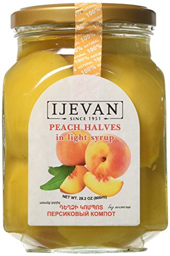 Ijevan Peach Compote without Pits 28.2 OZ/800 mL -