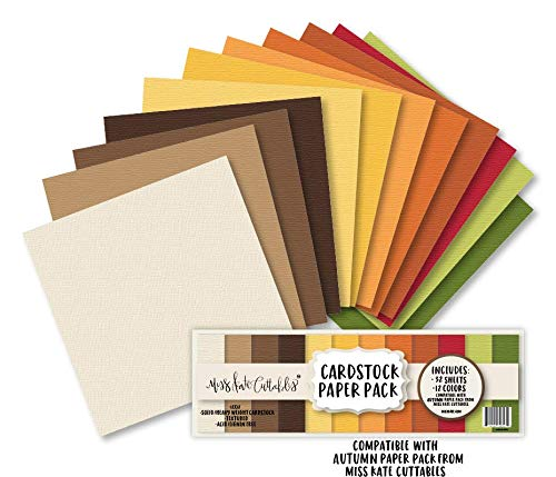 (Cardstock Paper Pack - Autumn - 32 Sheets Solid Core Textured Card Stock - Custom Colors Matched for Our Designs - Card Making Crafting Scrapbook - by Miss Kate)