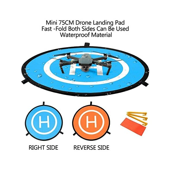 WisFox Drone Landing Pad Impermeabile 75cm Atterraggio Pieghevole Portatile per Elicotteri RC Drone 3 spesavip