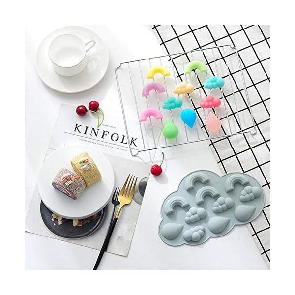 UMTGE - Vaschetta per cubetti di ghiaccio, in silicone e flessibile, 11 vassoi per ghiaccio, per bambini, con caramelle… 5 spesavip