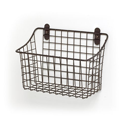 Spectrum Diversified Vintage Wall Mount Storage Basket, 10