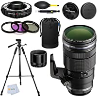 Olympus M 40-150mm f/2.8 Interchangeable PRO Lens Accessory Bundle - Olympus MC-14 1.4X Teleconverter+ 3 Pc. Filter Kit + 72 Tripod & more