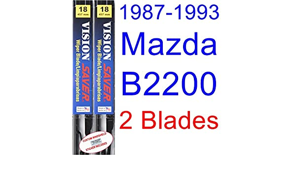 Amazon.com: 1987-1993 Mazda B2200 Replacement Wiper Blade Set/Kit (Set of 2 Blades) (Saver Automotive Products-Vision Saver) (1988,1989,1990,1991,1992): ...