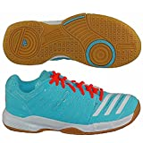 Adidas Essence 12 Women's Indoor Court Shoes Bright Cyan Blue (9)
