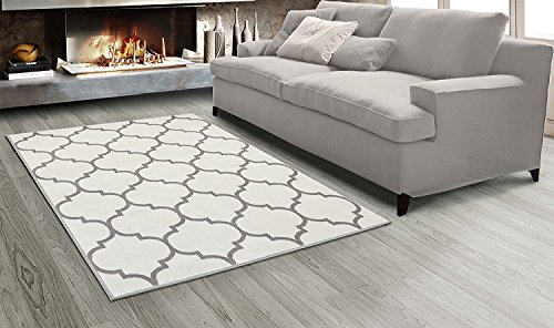 Collection 5 Designs - Sweet Home Stores King Collection Moroccan Trellis Design Area Rug, 5'3