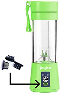 Joyka Personal Blender Smoothie Cup Juicer Bottle Mixer - Portable Blender For Baby Food Juice Shakes Smoothies 380 mL BPA Free