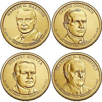2014 D Presidential Dollar Set (4 Coins) Uncirculated