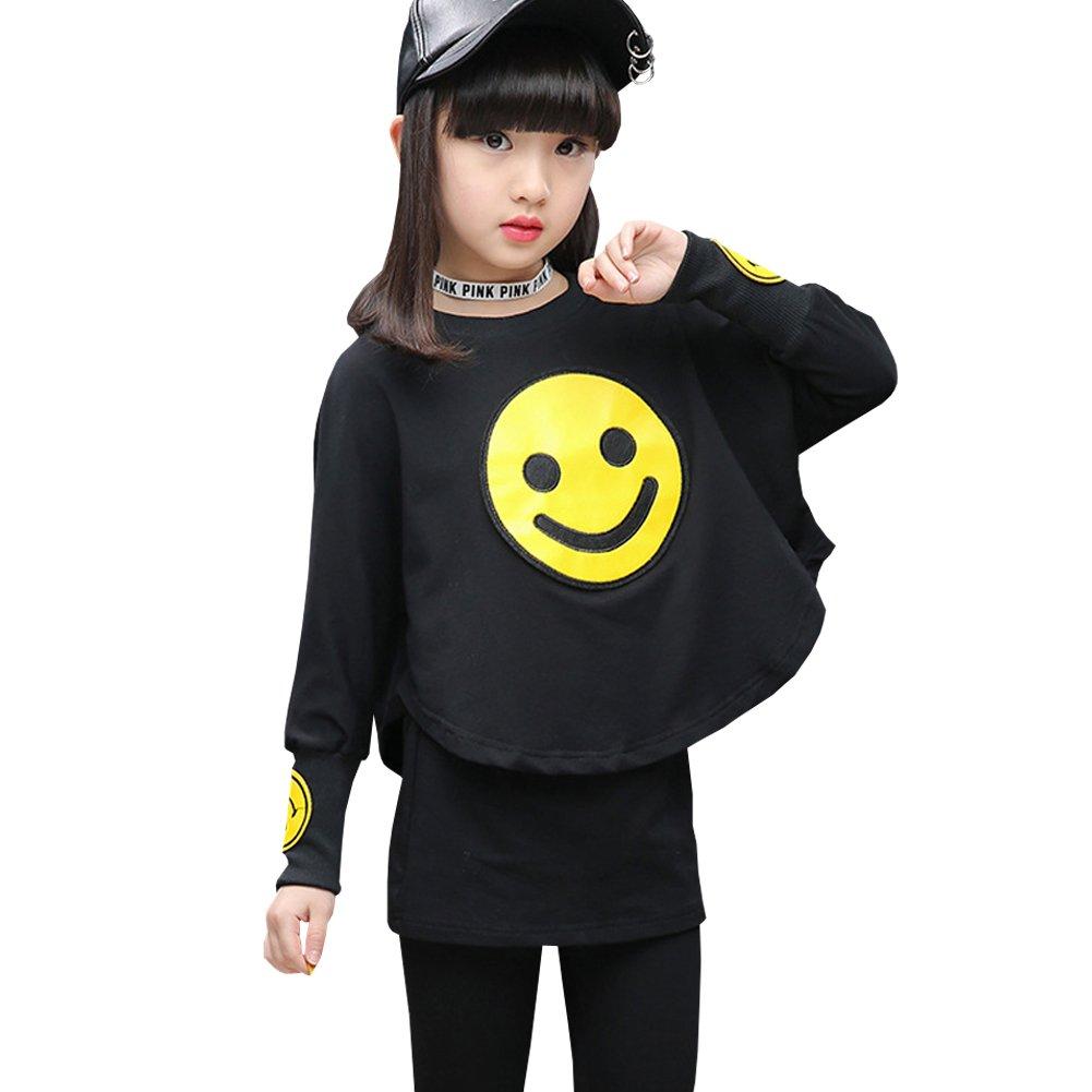 M&A Girls Cotton Long Sleeve Shirt + Pants 2 Piece Clothing Set