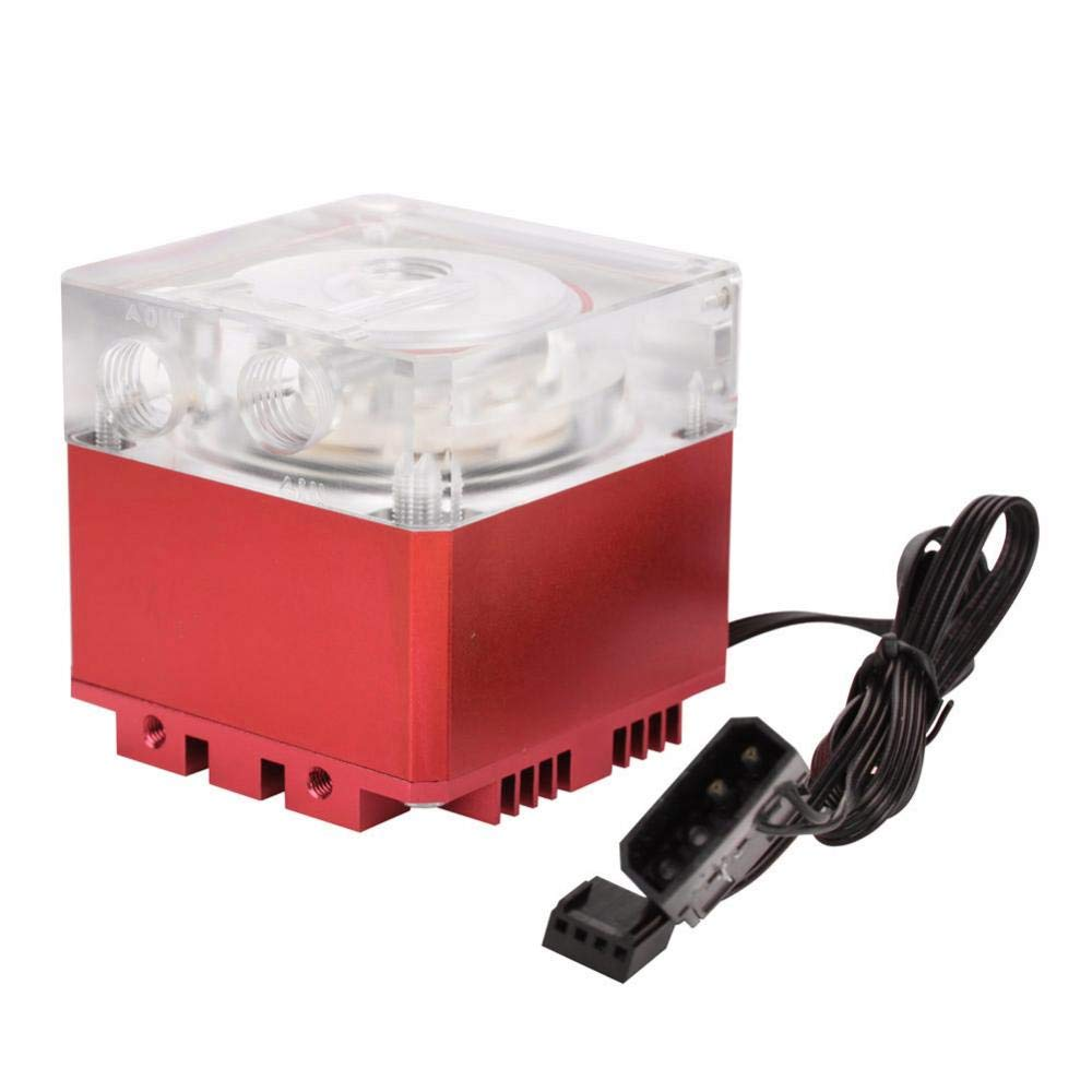 Negro Diyeeni Bomba de Agua para computadora Velocidad de Flujo de 800L H//Velocidad de Carga de 3000 RPM 3.5 Metros de Bomba Bomba de Agua para computadora disipaci/ón de Calor r/ápida