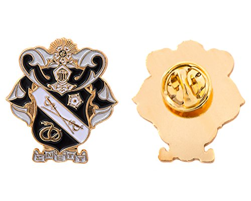 Desert Cactus Sigma Nu Fraternity Crest Lapel Pin Enamel Greek Formal Wear Blazer Jacket Sig Nu by Desert Cactus