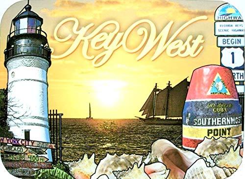 Key West Florida with Lighthouse Photo Fridge Magnet