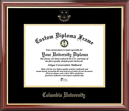 amazon com columbia university lions embossed seal mahogany