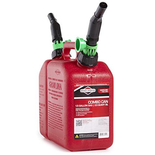 Briggs & Stratton 85310 2-Compartment 1-1/2 Gallon Gas and 2-1/2 Quart Oil Fuel Can