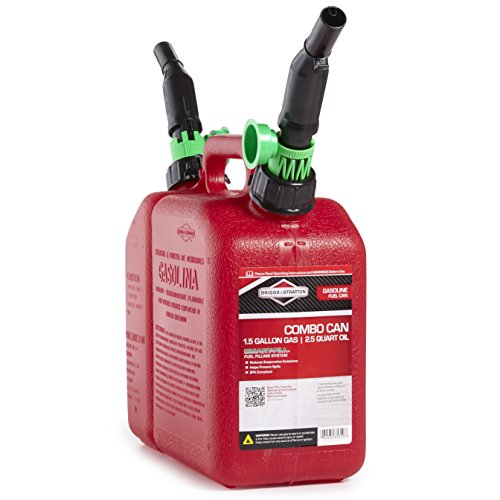 Briggs & Stratton 85310 2-Compartment 1-1/2 Gallon Gas and 2-1/2 Quart Oil Fuel Can ()