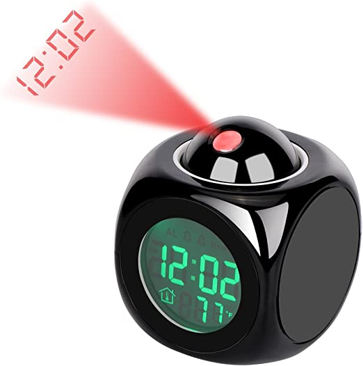 SOOTOP Proyector Led De Alarma De Temperatura Reloj Digital ...