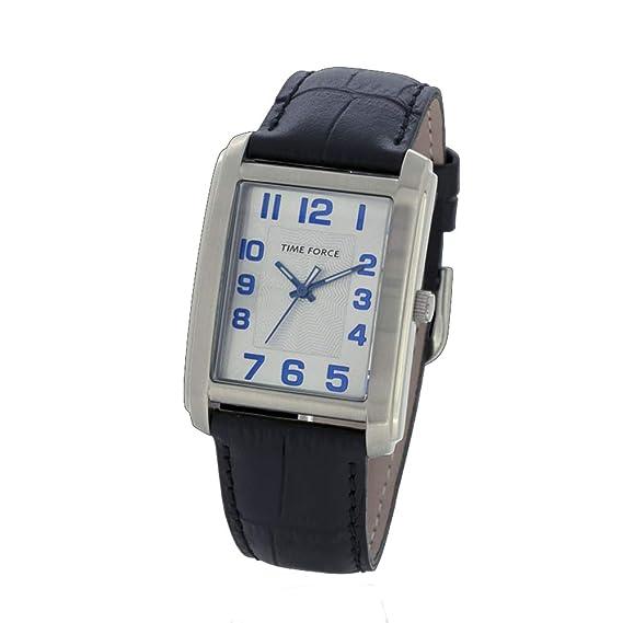 Time Force Reloj Analógico para Hombre de Cuarzo con Correa en Cuero TF4057L12: Amazon.es: Relojes