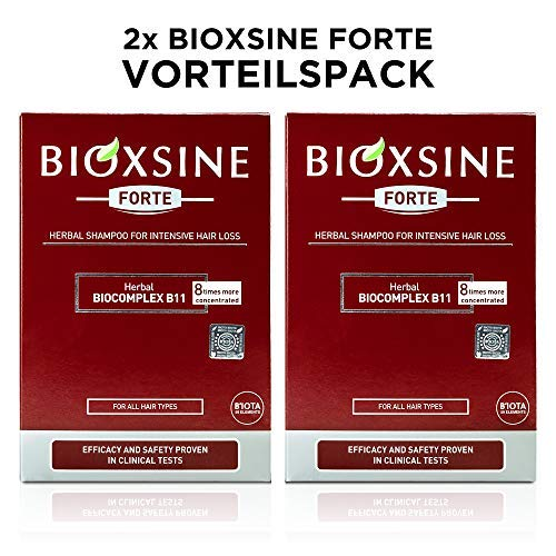 2 x Forte Shampoo for strong hair loss - for woman and man | with vegetable hair shampoo accelerate hair growth | fast hair growth | hair growth remedy 300 ml | by Bioxsine (2x300)