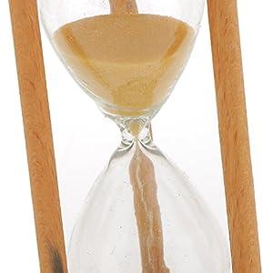 3 Minutos Reloj de Arena Temporizador Matemáticas Ejercicios Cepillarse los Dientes Madera - Amarilla 6