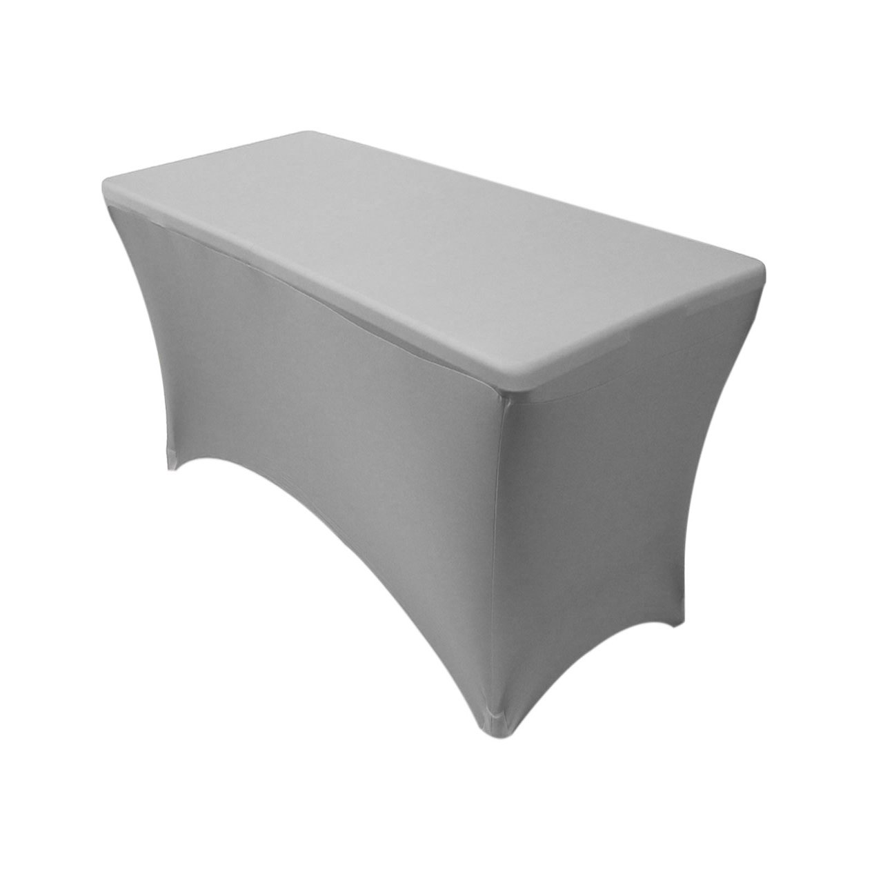Amazon.com: Your Chair Covers   Spandex 4 Ft Rectangular Table Cover  Silver: Home U0026 Kitchen