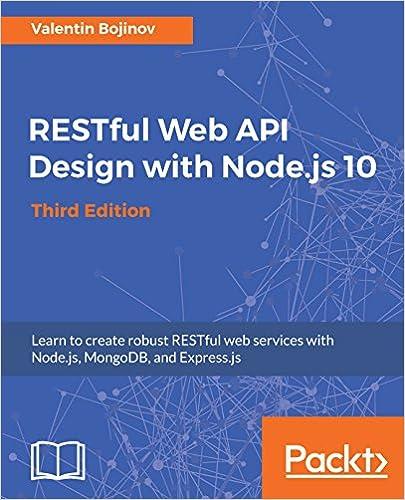 Amazon com: RESTful Web API Design with Node js 10, Third