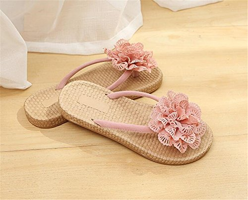 Pink Slippers House Wheeler Walking Sandals Women Casual Queena for Shower Home Support Beach Shoes Slide anXq6xWR