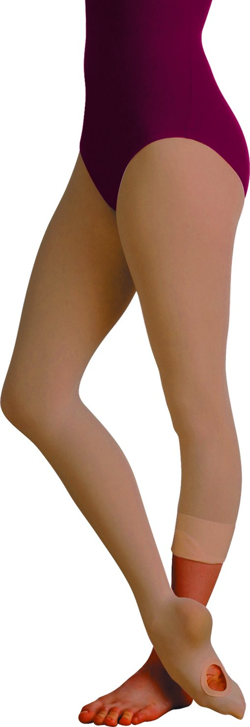 Body Wrappers Women's Total Strech Convertible Tights - A31, Suntan, Small/Medium by Body Wrappers