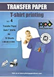 #9: PPD Inkjet Iron-On Dark T Shirt Transfers Paper LTR 8.5x11