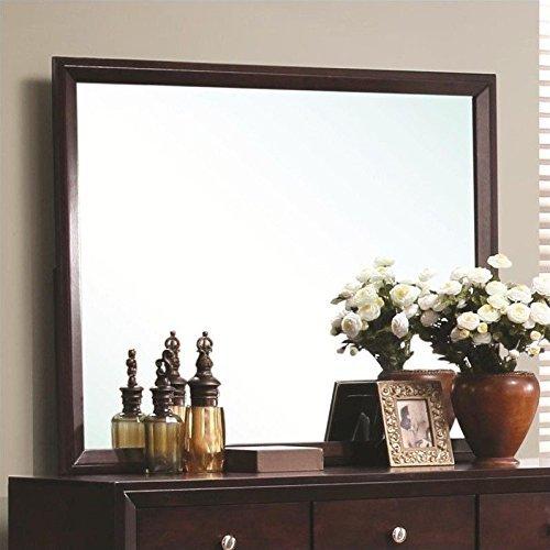 Finish Dresser Merlot Mirror (Coaster Home Furnishings Serenity Rectangular Dresser Mirror Merlot)