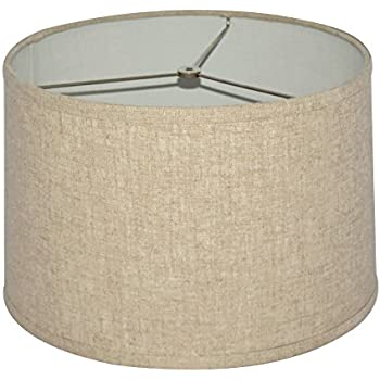 Linen Drum Lamp Shade In Cream Lampshades Amazon Com