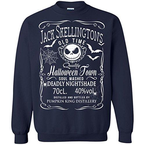Best Jack Skellington Costume (Nightmare Before Christmas Jack Skellington Pumkin King Halloween Sweatshirt)