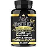 Angry Supplements Monster Test Gold, Testosterone Booster for Men - Concentrated Formula, Safe, Natural Energy Pills, Maximum Muscle Growth and Pump - Increase Stamina and Workout Recovery (1-Bottle)
