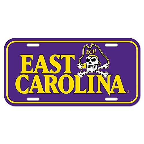 WinCraft East Carolina Pirates Plastic License -