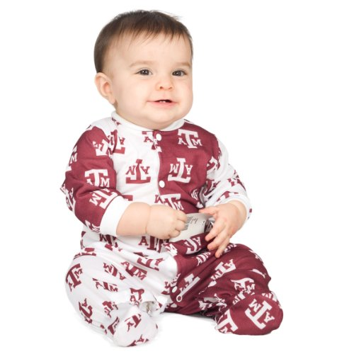 Texas A&M University Aggie Baby Boys Footed Infant Jumpsuit, Size 12m