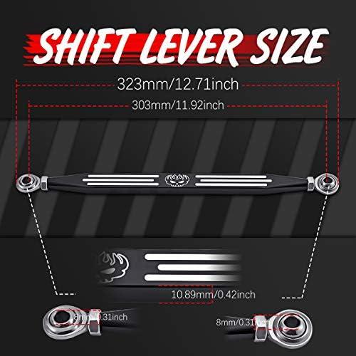 /2017 KaTur Skull Stripe nero profondo taglio CNC shift Linkage per Harley Davidson Softail Road King Electra Glide 1980/