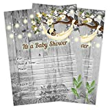 Birch Tree Baby Shower Invitations Girl Rustic Tree String Light Invites 20 Count and envelopes