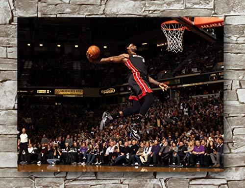 (Lebron James Miami Heat Poster Standard Size | 18-Inches by 24-Inches | Lebron James NBA Photo Posters Wall Poster Print)