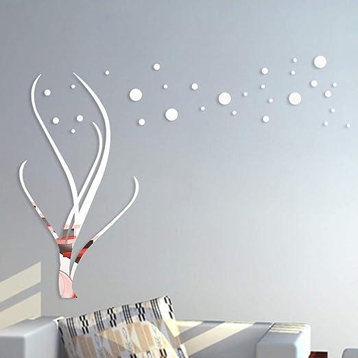 YWLINK 3D DIY Forma De La Flor AcríLico Etiqueta De La Pared Modernas Pegatinas De DecoracióN: Amazon.es: Hogar