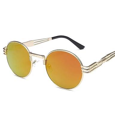 parzinkk Gafas De Sol Redondas Para Hombre Gafas De Sol De ...