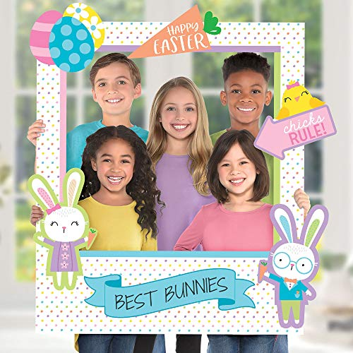 Amscan Giant Customizable Easter Photo Frame Kit, Spring Party Supplies, Includes 14 Cutouts, 30