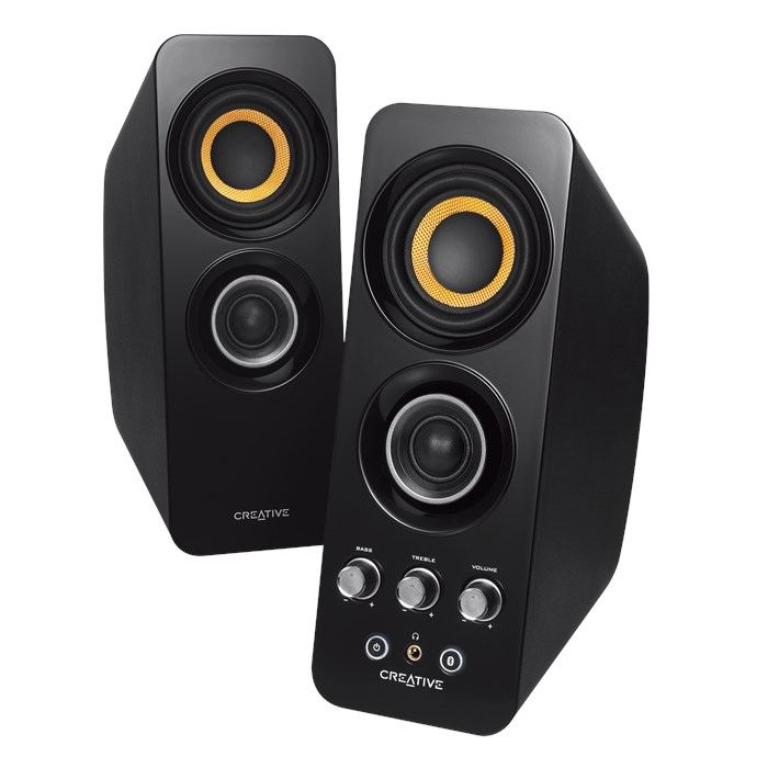 Creative T30 Wireless Bluetooth 3.0, 2.0 Computer Speaker System with Near Field Communication by Creative